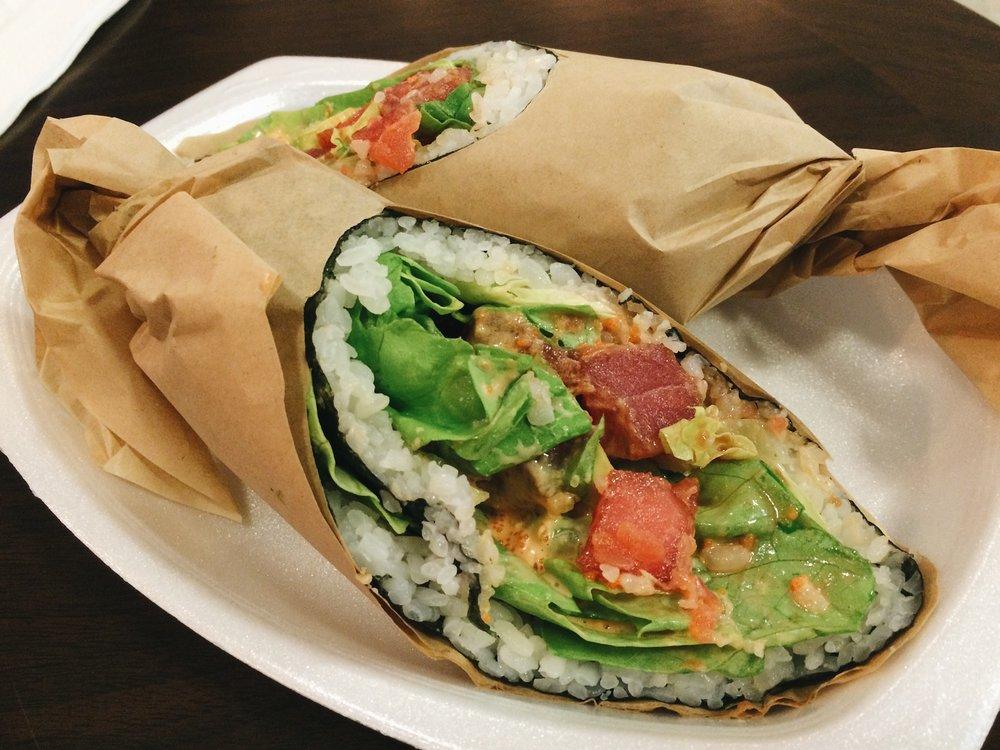 Tuna Poke Sushi Burrito.