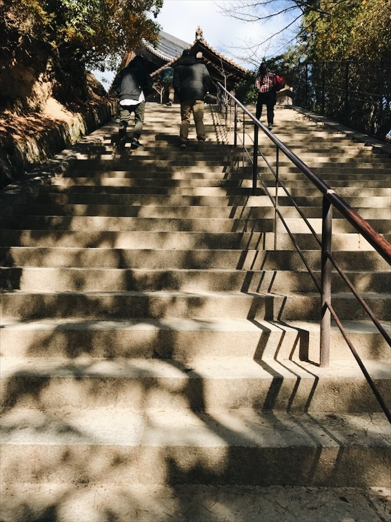 I hate stairs, we're still on the Miyajima Island in case you're wondering. For my lack of caption it can be confusing. =)