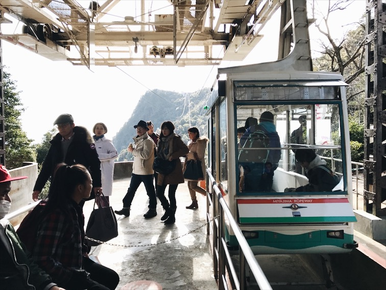 """I can't believe they pack this thing so tired on these """"sky tram."""" Man I was afraid that shit was snap and we all fall to our deaths."""