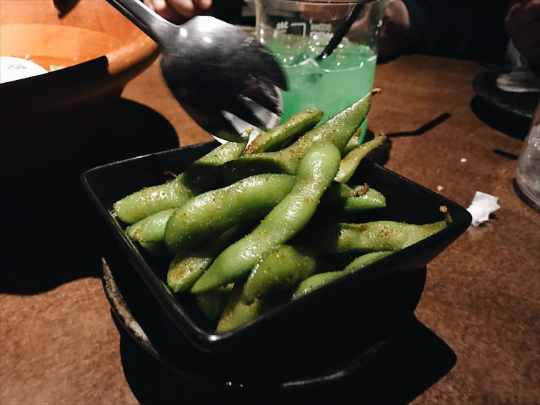 Garlic Edamame. Bomb. You can tell it wasn't frozen.