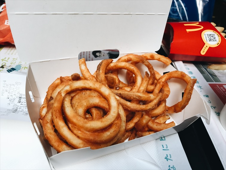 McDonald's Curly fries, woopty woo.