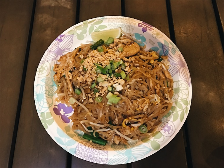The flavor on this Pad Thai was good but the noodles were a bit harder and chewy. I enjoyed it though. Lupita likes to poke my food but this time she licked my lime and put it back in my plate? Geez, worst date ever! <3 <--- that's a heart in case you were wondering.