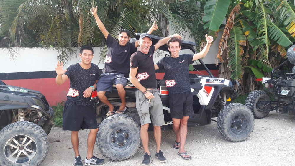 Our tour guides, pretty awesome group of dudes right here.  Photo courtesy of Rent Buggy Jungle Tour Playa Del Carmen