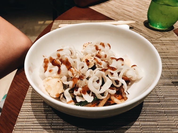 The Udon for the vegetarian (Lupita).