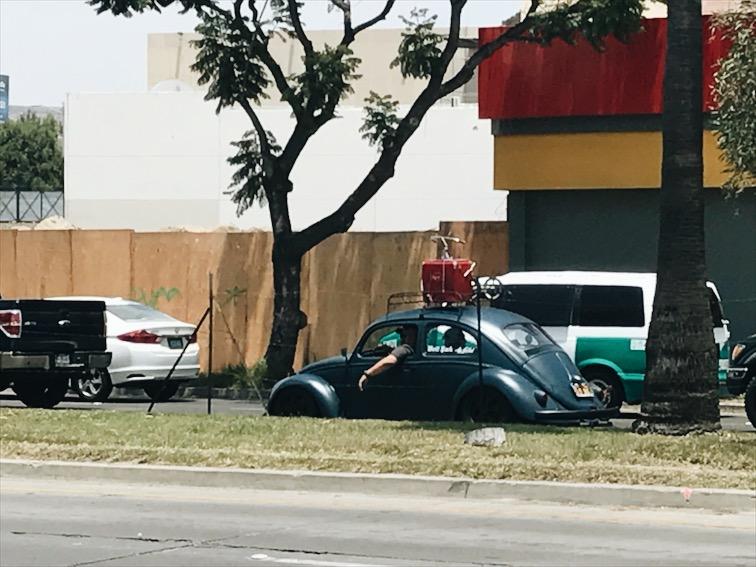 Car spotting.
