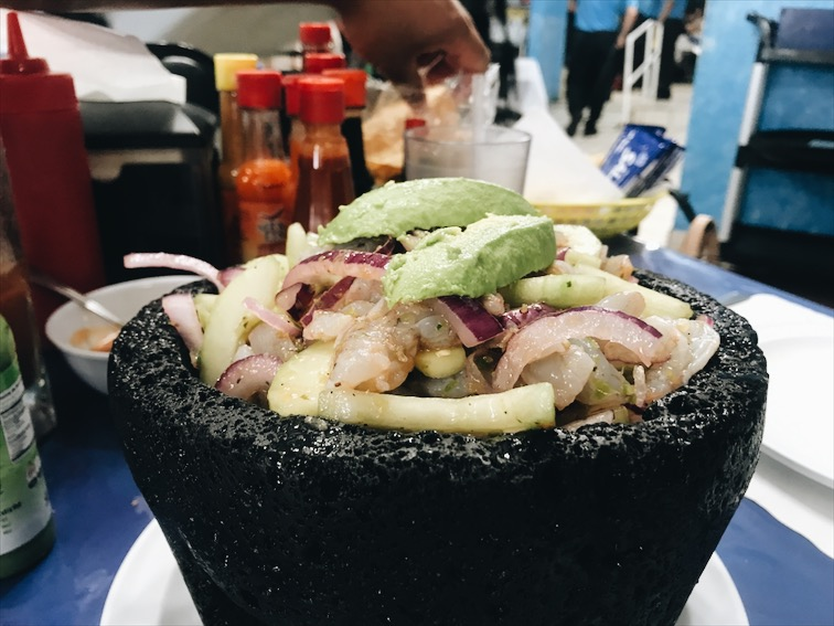 Forgot what this was called but its like a Ceviche, shrimp.