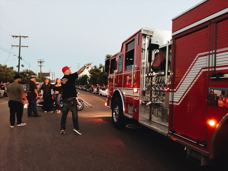 Barrio Logan fire fighters, they roll thru often to say whats up to their homies.