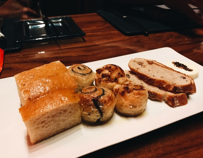These little bread were delicious. From left: Lemon Focaccia Bread, Truffle, Bacon, regular Bread? Haha.