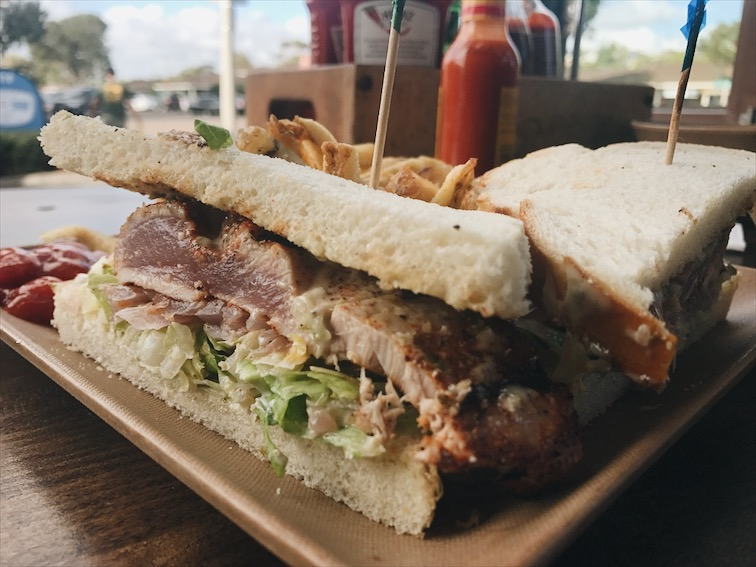 Ahi Tuna Sandwich, Blackened Seasoning.