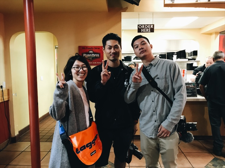 David with Takayuki and his wife (from left to right).