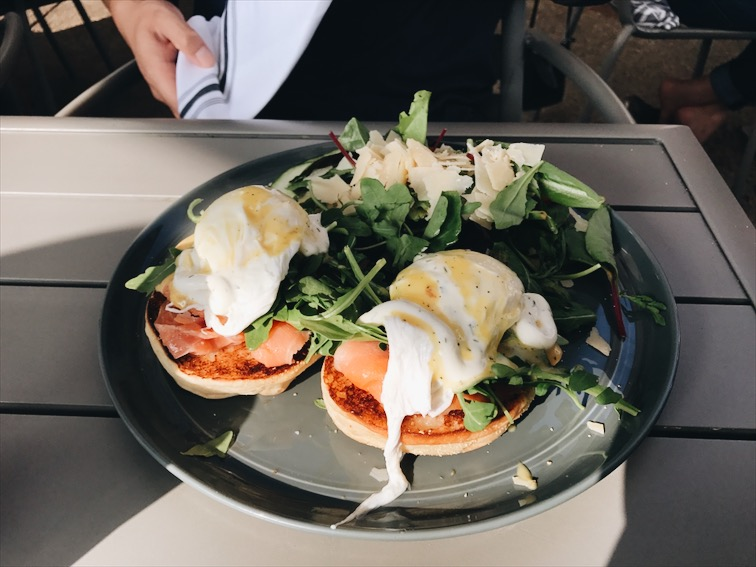 The Benedict with Salmon.