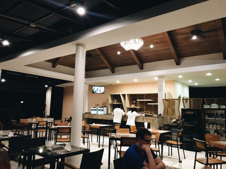 The restaurant located at our hotel.