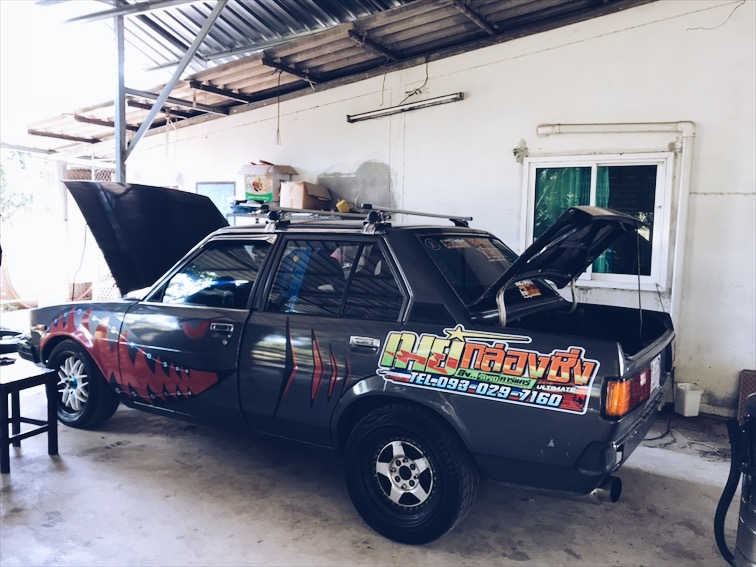 My brother's car, he won first place in a Gymkhana race in Thailand.