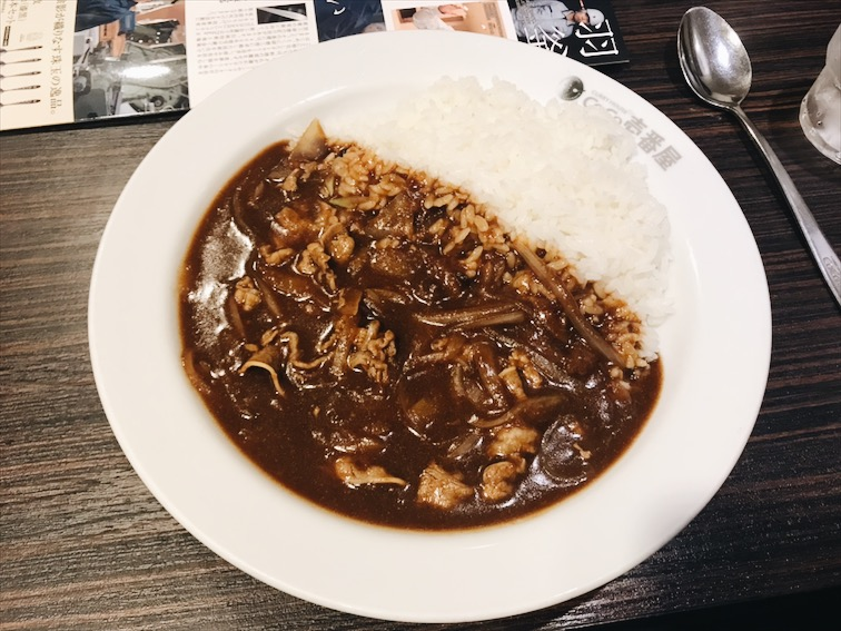 While everyone ordered the fried chicken up top, I ordered this Stewed Beef Curry. Different color curry, meaning different curry spices/flavor. I love this flavor the most.