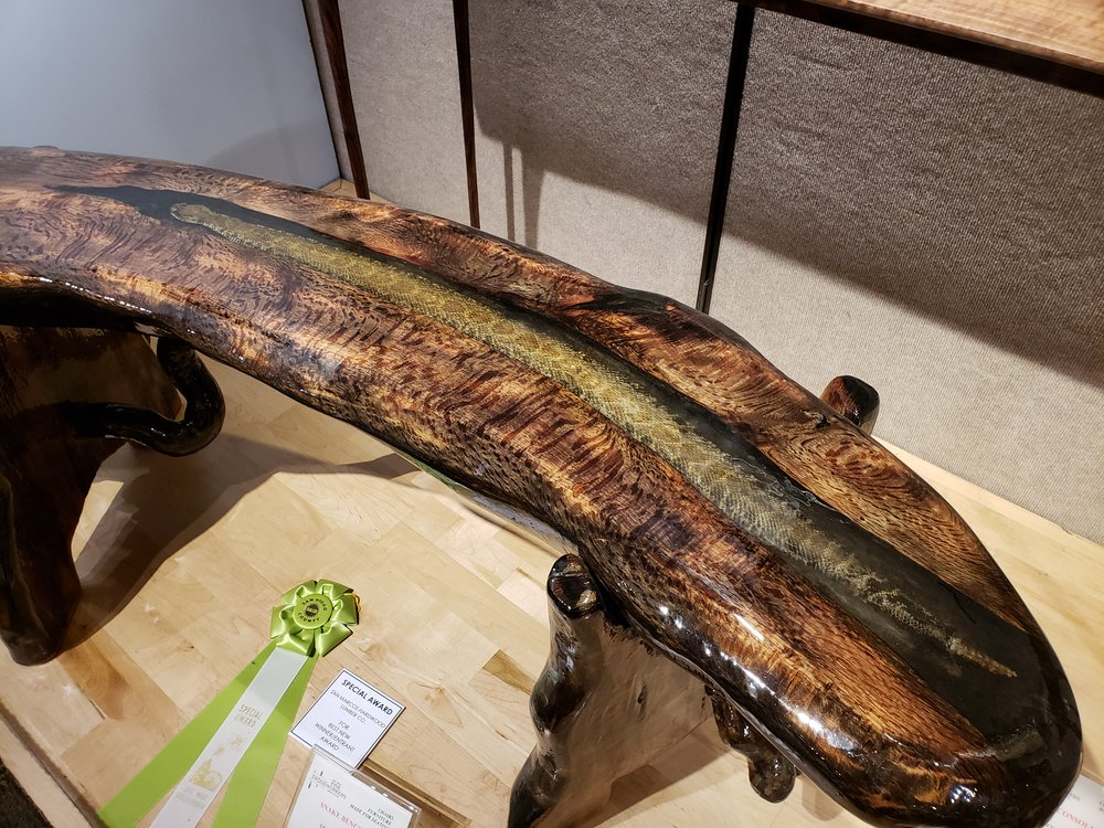 This table has a snake in it!!