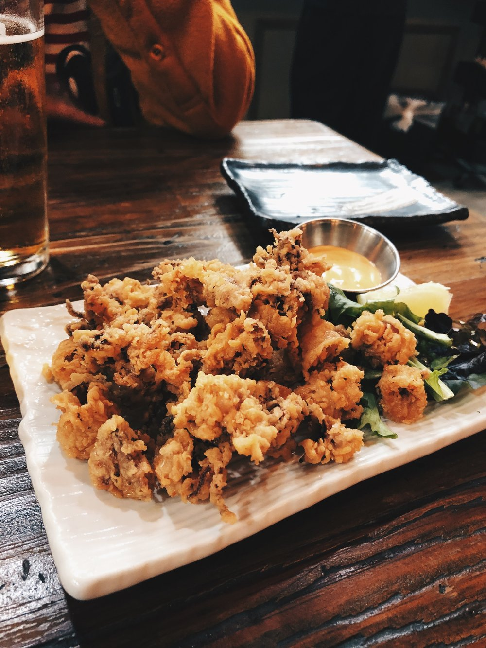 Fried calamari. Any place that serves great Calamari I'll forever fucks with them.