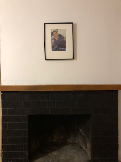 After: Also put up the first and most important photo of them all, my Grandma.