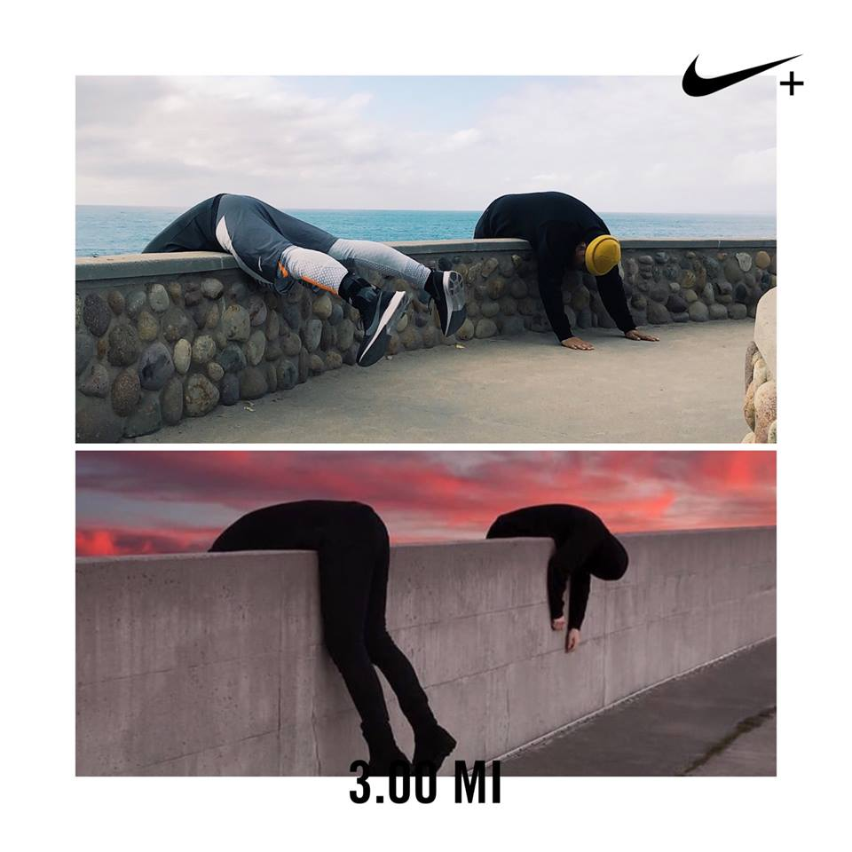 I ran a strong 3 miles yesterday. Concept came from the original photo by Sean J Mundy. Who did it better? Haha.