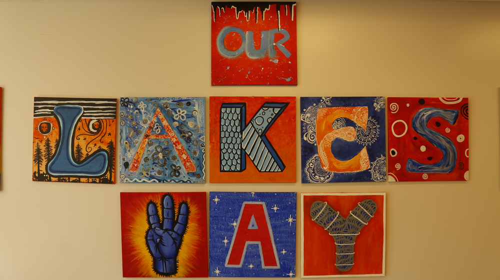 Mrs. Fortune, the AP Art teacher at LHS gave her students the assignment of creating this art piece in honor of rebooting their Lakes Way Touchstone! Once a Lancer, Always a Lancer!