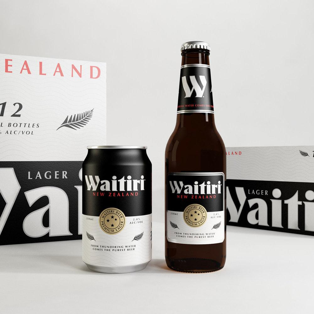 Waitiri Beer Branding—Packaging