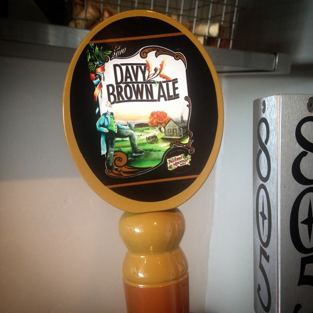 New on tap, Figueroa Mountain Davy Brown Ale! #pierfront #avilabeach #figueroamountain #davybrownale #localbeer