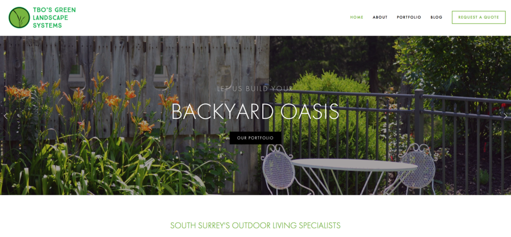 TBO's Green Landscape Systems