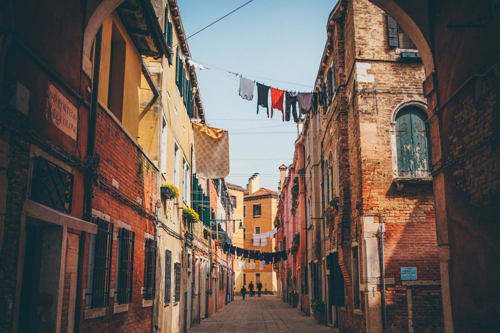 Fresh laundry in dreamy Venice!