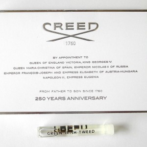 Creed Green Irish Tweed fake sample card