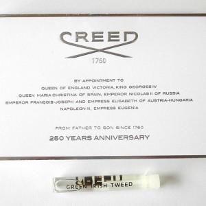 Creed Green Irish Tweed fake sample card