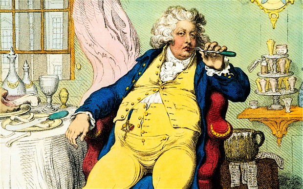 George IV: Not popular... but apparently he smelt great...