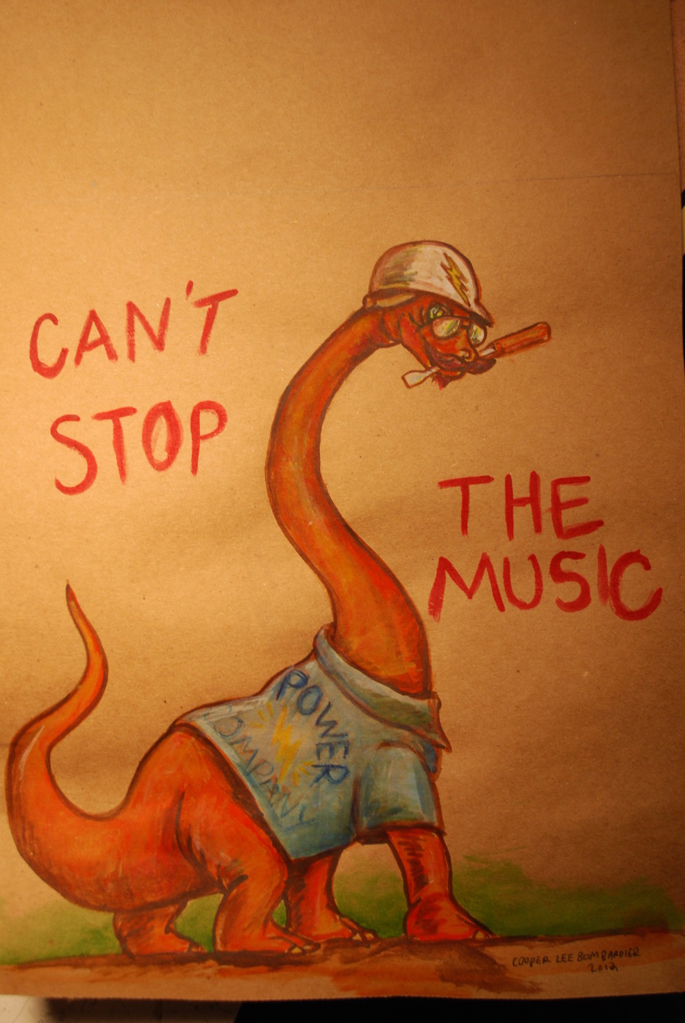 Faggot Dinosaur_Can't Stop The Music_by Cooper Lee Bombardier.jpg