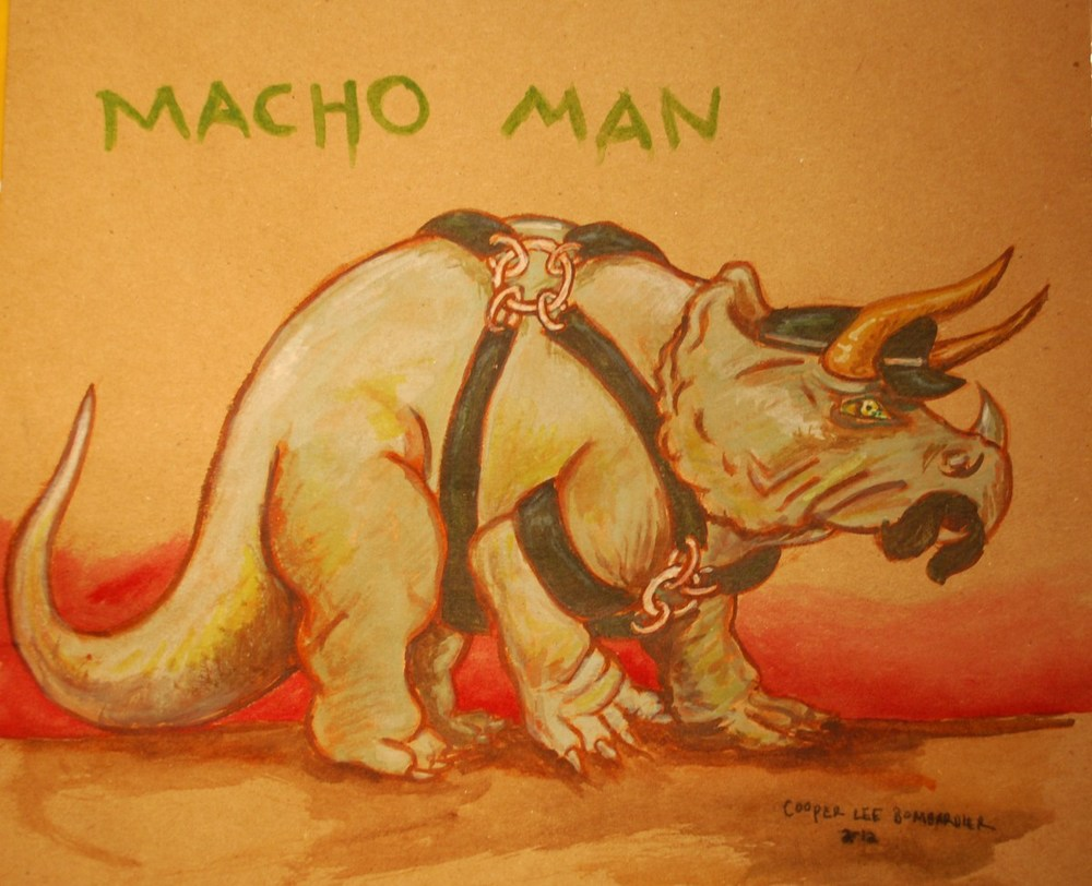 Faggot Dinosaur_Macho Man_by Cooper Lee Bombardier.jpg