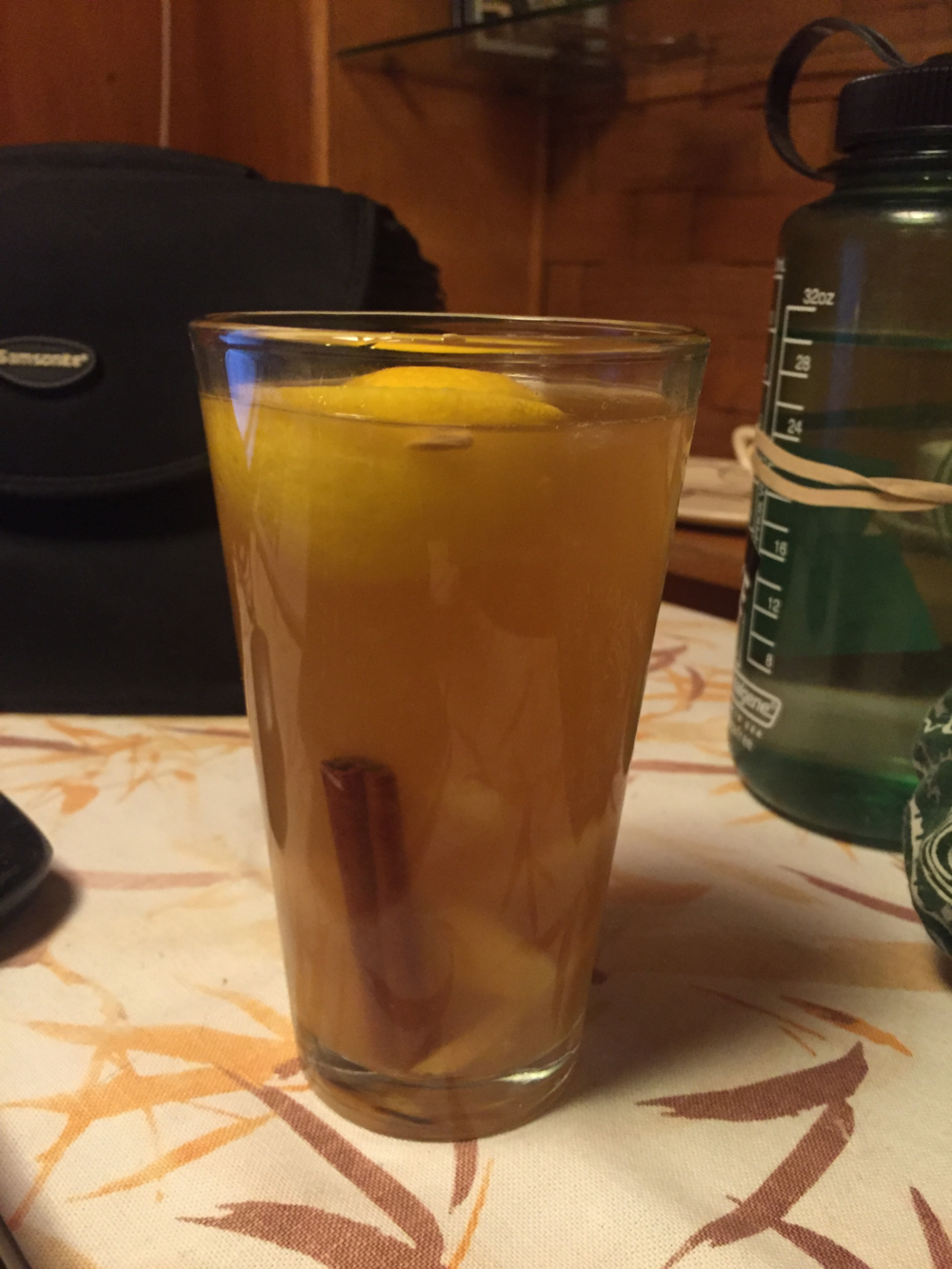 Medicinal hot toddy.