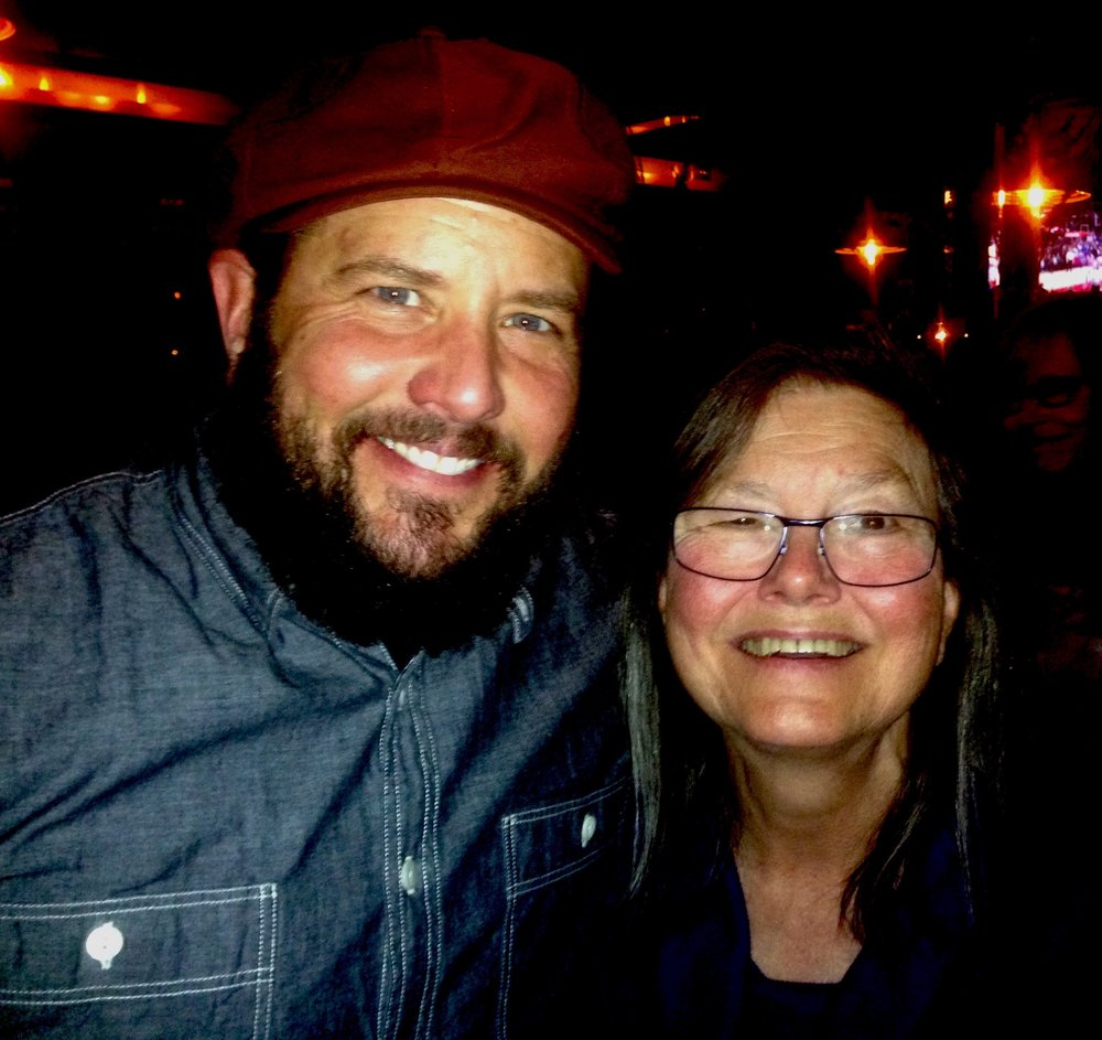Cooper with Dorothy Allison, Portland Oregon