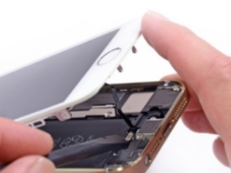 iPhone 5S with the screen popped open...