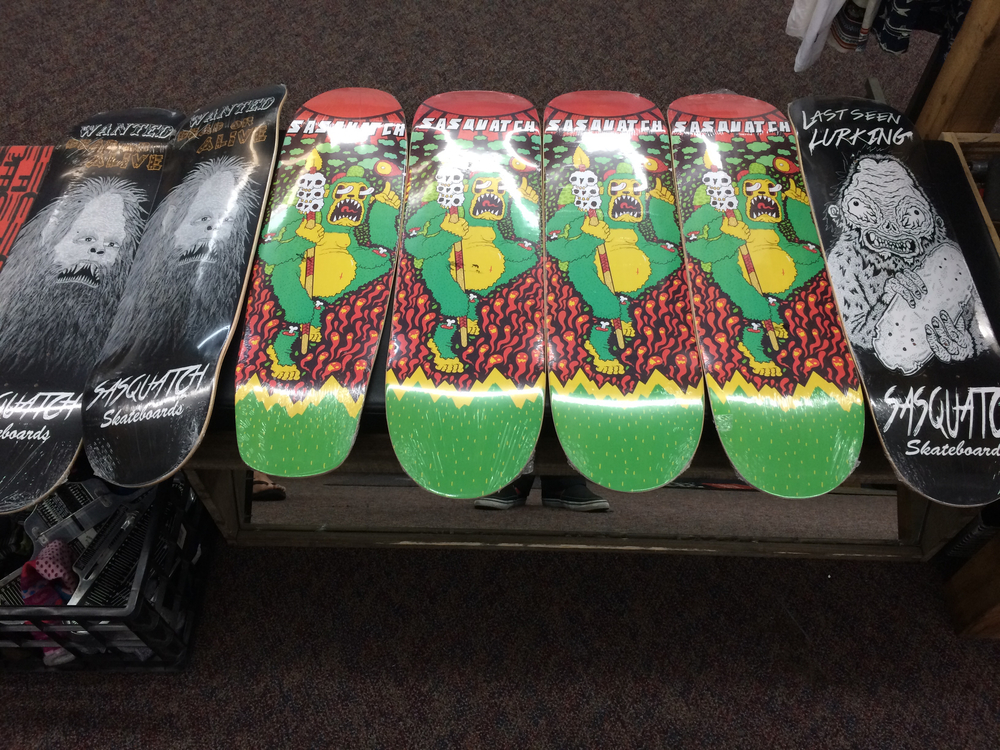Sasquatch Skateboard Stock