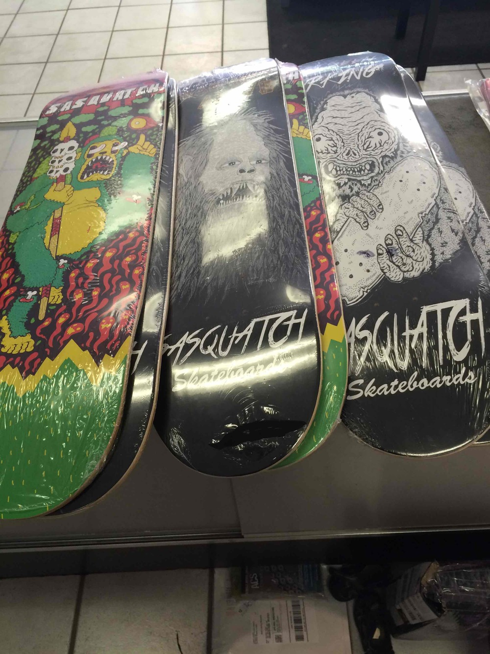 Fractured Bike And Board Shop Sasquatch Skateboards