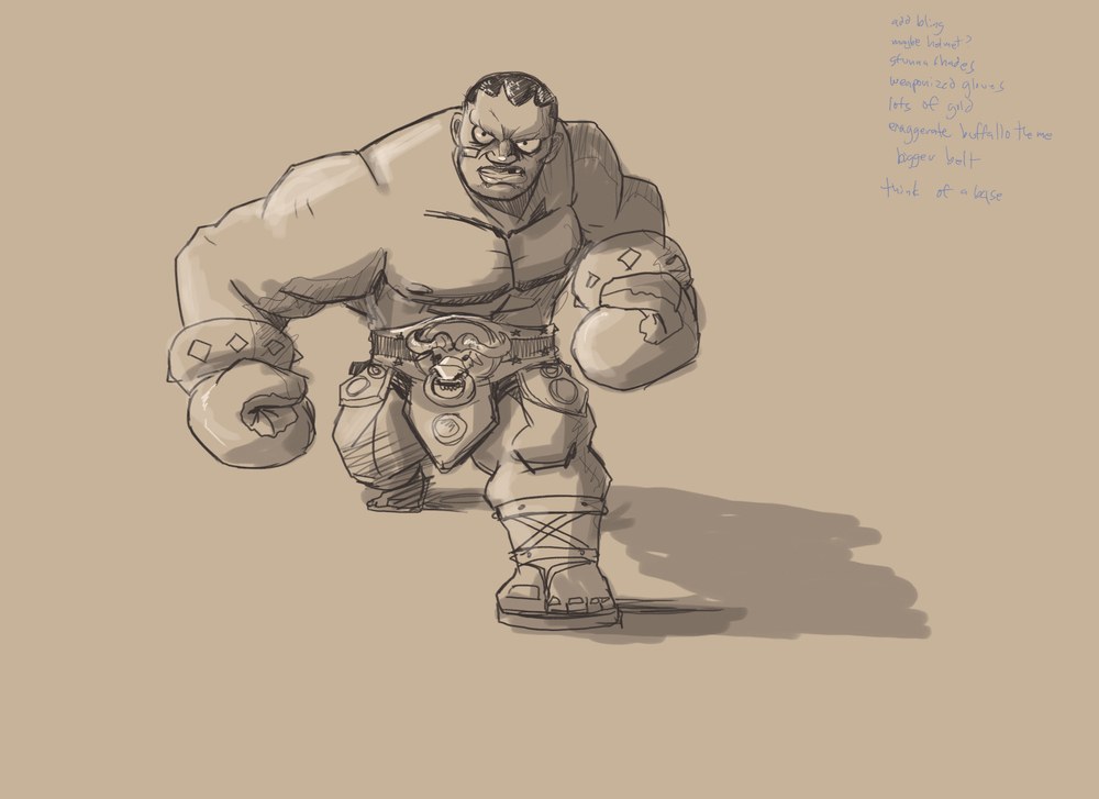 My design for Balrog from Capcom's Street FIghter series as a Cestus Gladiator.