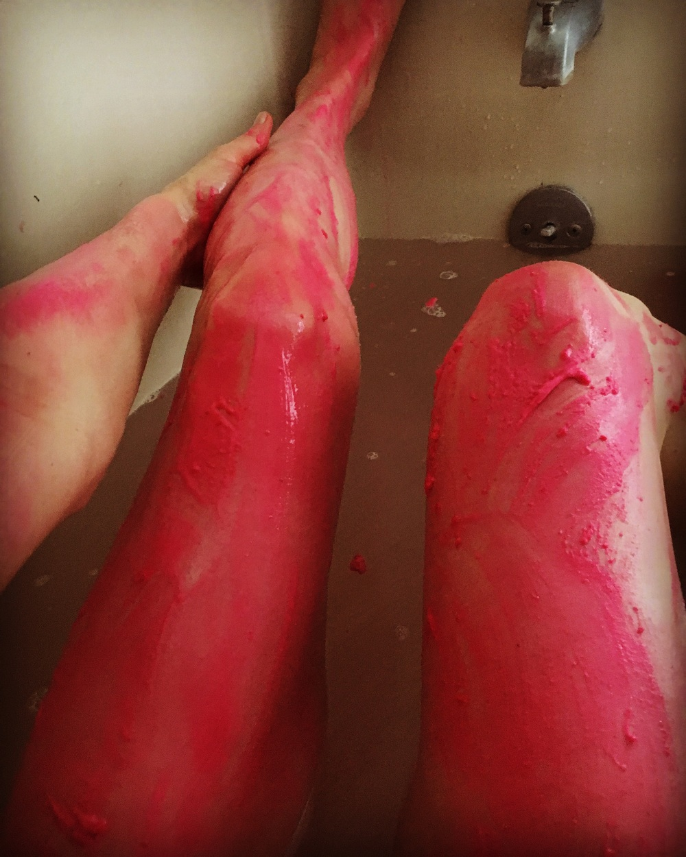 .....and a very long pink-slime bath taken with a good book !