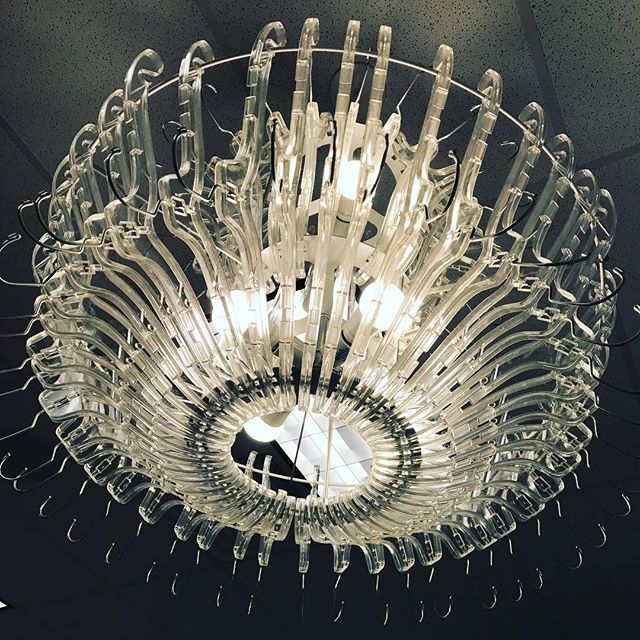 This chandelier is literally made out of plastic clothes hangers and no one ever notices ! 💎