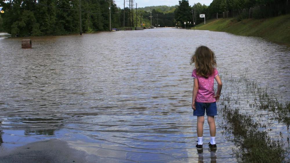 Wateroverlast in buitenstedelijkgebied na hoosbui