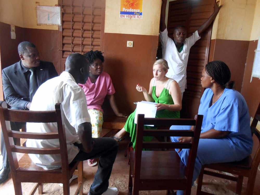 Meredith leads a focus group with health workers. Source: VaxTrac