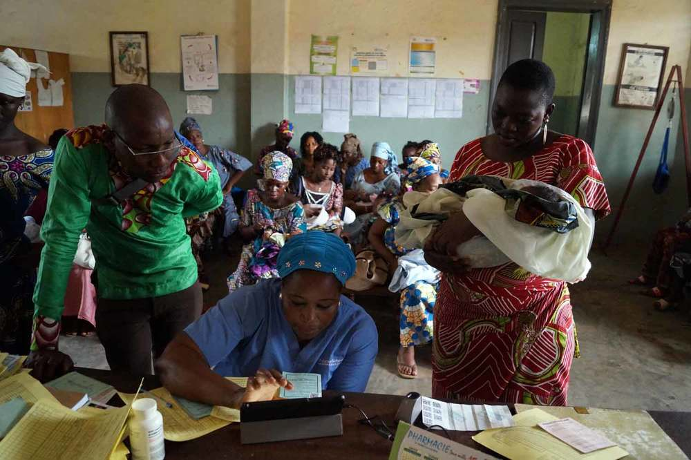 VaxTrac staff training health workers. Source: VaxTrac