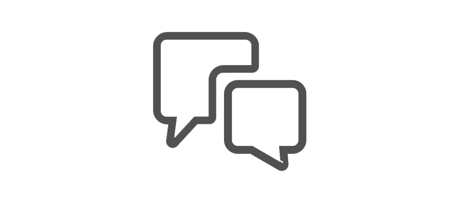Interpret Define Speech Bubble Conversation Help Chat Support Communicate Graph Paper Search Analyse Research.png