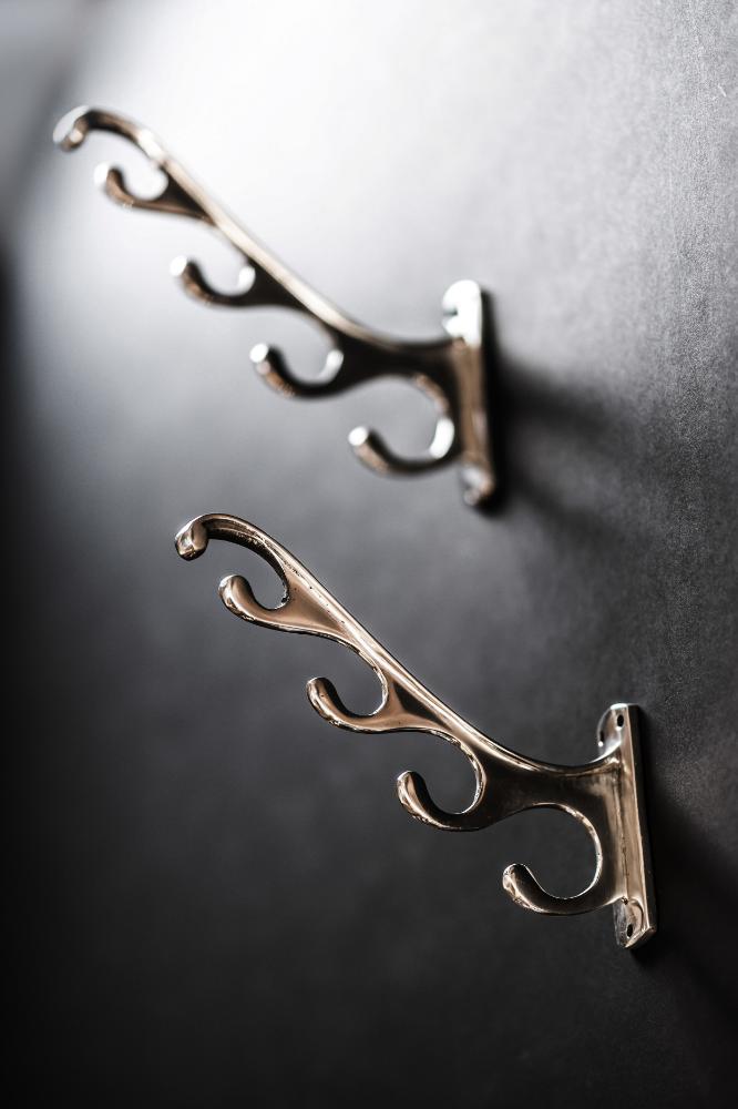 Savoy Hotel Polished Aluminium Antler Hooks