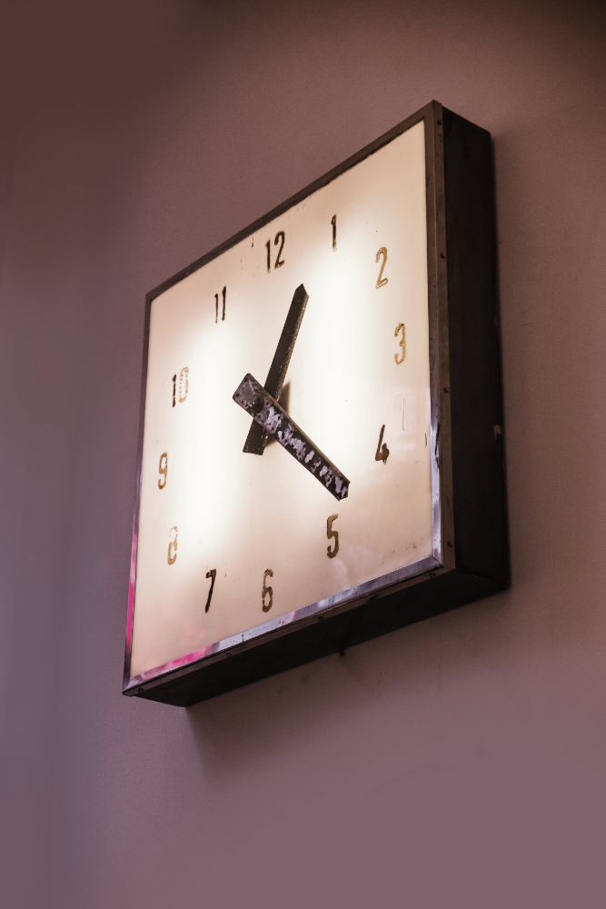 English Air Craft Hanger Clock