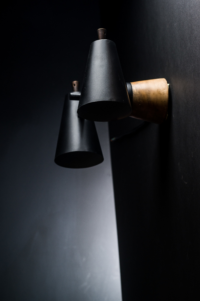 Bespoke Walnut and Steel Wall Light