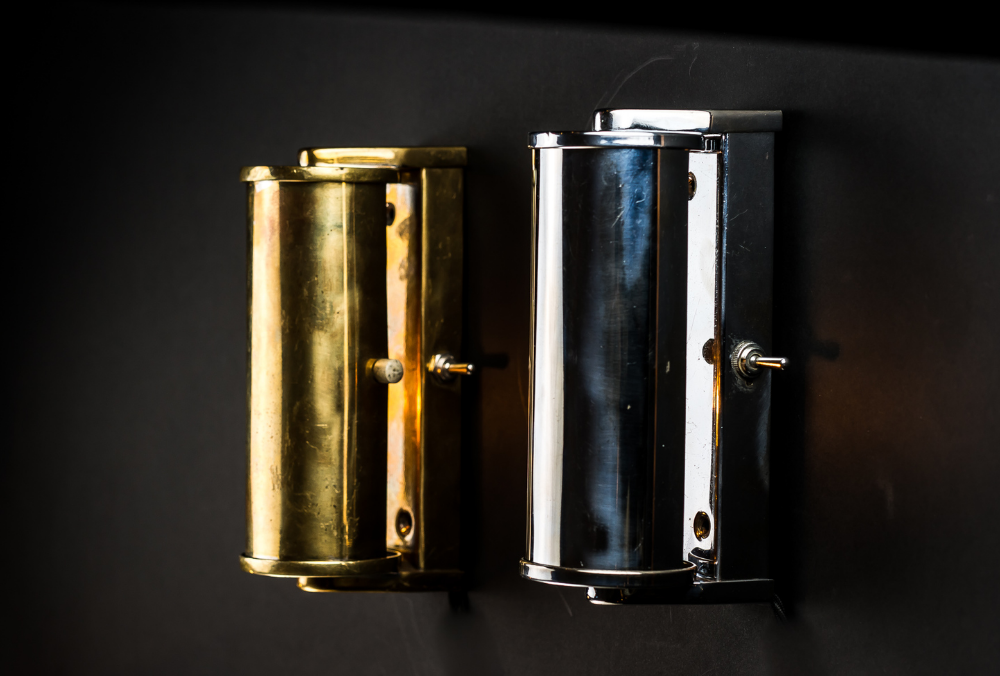 Aluminium and Brass Wall Light
