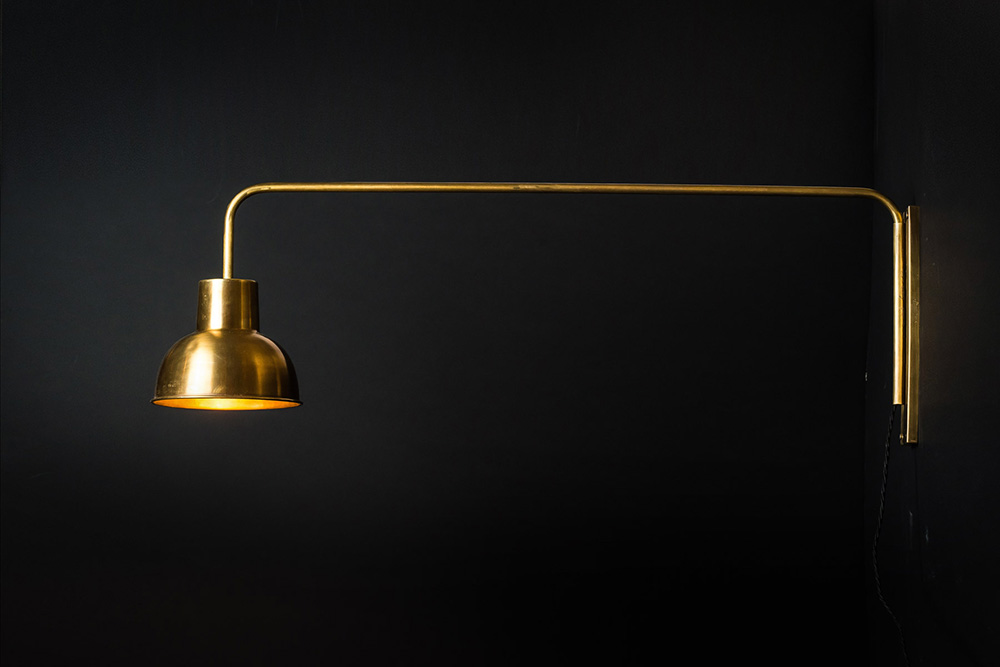 Wall Lights Scandinavian : Brass Swing Arm Wall Light Felix Lighting Specialists Vintage Industrial Lighting