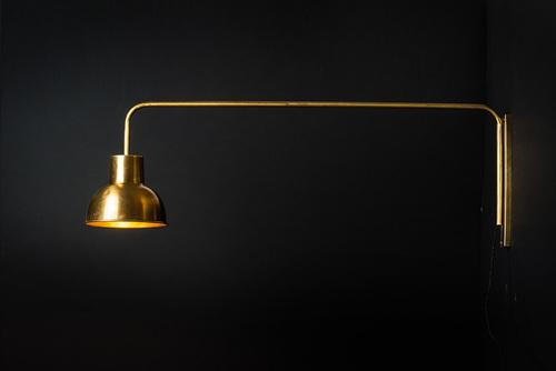 Brass swing arm wall light felix lighting specialists vintage brass swing arm wall light mozeypictures Image collections